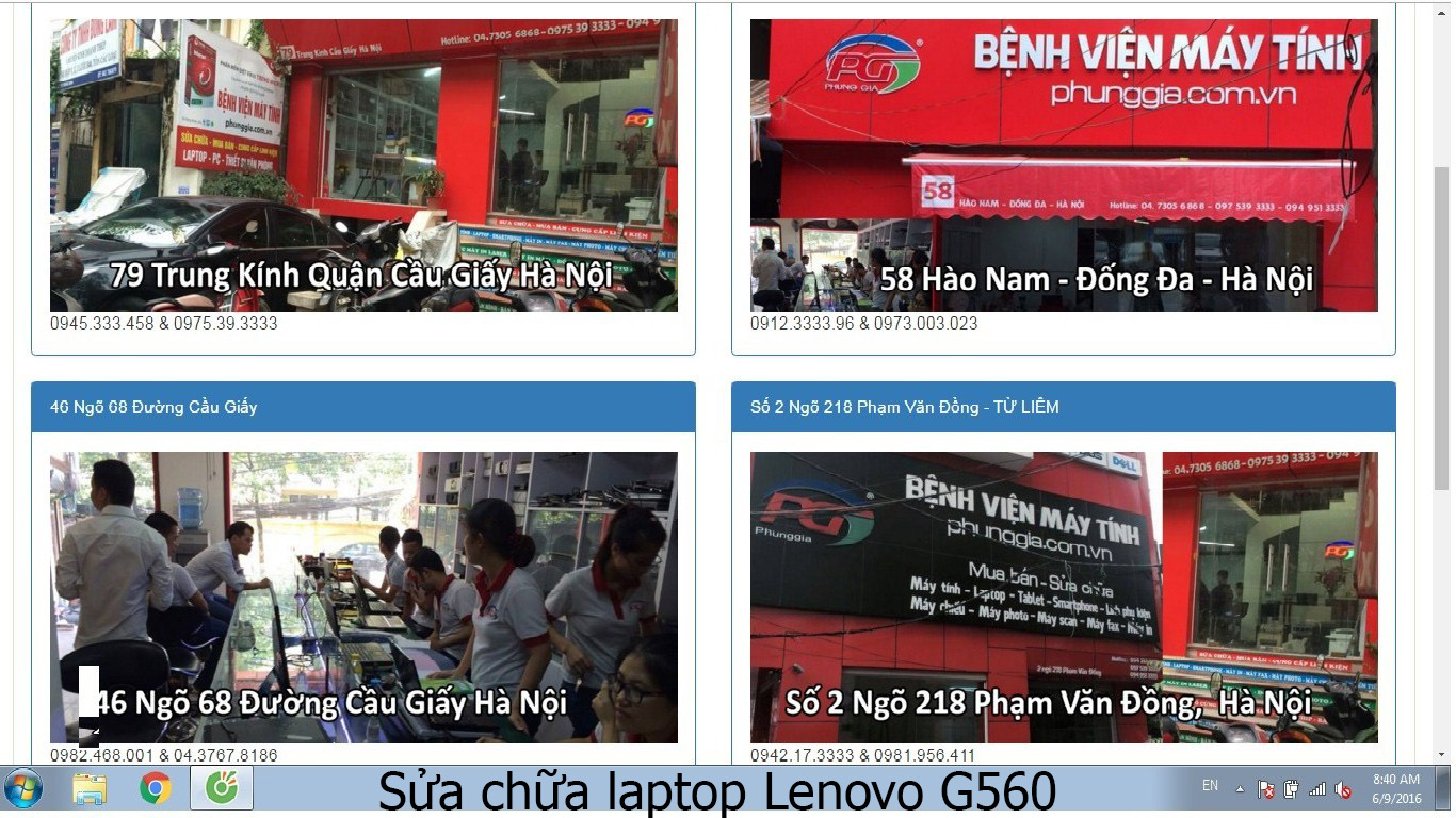 sửa chữa laptop Lenovo G560